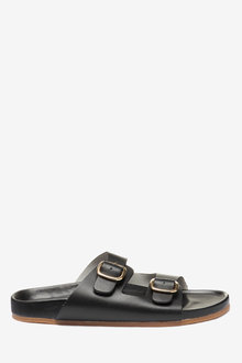 Next Flood Double Buckle Footbed Sandals - 249224
