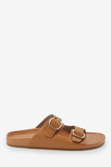 Next Flood Double Buckle Footbed Sandals
