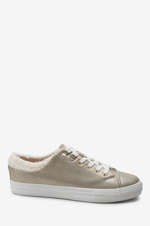 Next Borg Collar Lace-Up Trainers