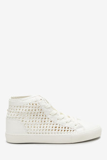 Next Weave High Top Trainers