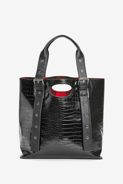 Next Croc-Effect Shopper Bag