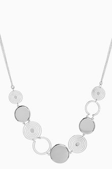 Next Circular Cutout Detail Short Necklace