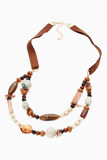 Next Beaded Two Layer Necklace
