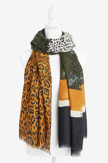 Next Animal Spliced Lightweight Scarf - 249288