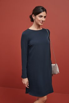 Next Long Sleeve Boxy Dress-Tall