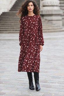 Next Tiered Midi Dress-Tall - 249315