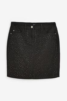 Next Embellished Mini Skirt-Tall