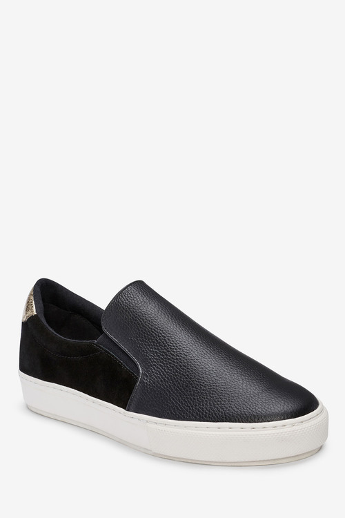 Next Signature Leather Skater Shoes