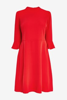 Next Flute Sleeve Dress-Tall