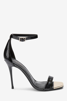 Next Metal Detail Barely There Sandals
