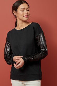 Next Sequin Sleeve Sweatshirt