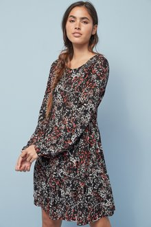 Next Tiered Long Sleeve Dress