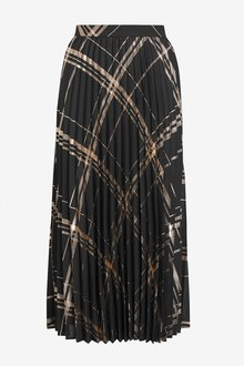 Next Metallic Pleated Skirt