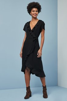 Next Ruffle Midi Dress