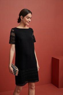 Next Lace Detail Shift Dress - 249483