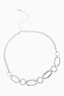 Next Pave Link Choker Necklace