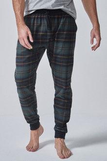 Next Check Brushed Woven Cuffed Pyjama Bottoms