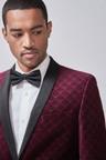 Next Printed Velvet Tuxedo Jacket