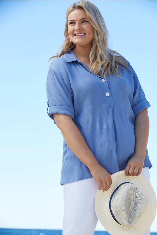 Sara Placket Button Shirt