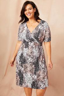 Sara Gather Front Dress - 249579