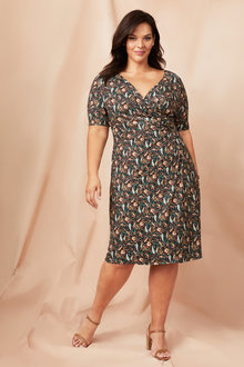 Plus Size - Sara Gather Front Dress - 249579