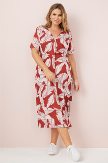 Plus Size - Sara Button Dress - 249580
