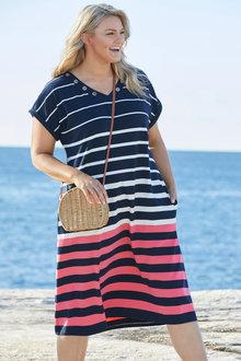 Plus Size - Sara Eyelet Dress - 249582