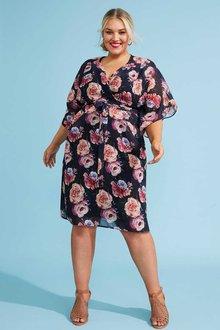 Sara Flute Sleeve Dress - 249584