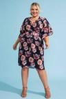 Sara Flute Sleeve Dress