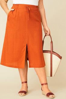 Sara Linen A Line Skirt - 249604