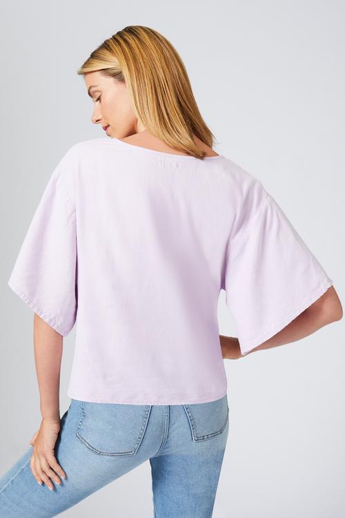 Emerge Linen Blend Cropped Shirt