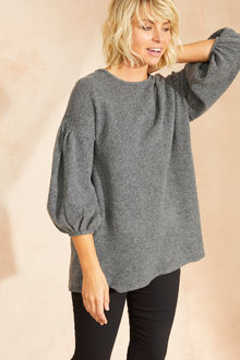 Emerge Balloon Sleeve Sweater - 249767