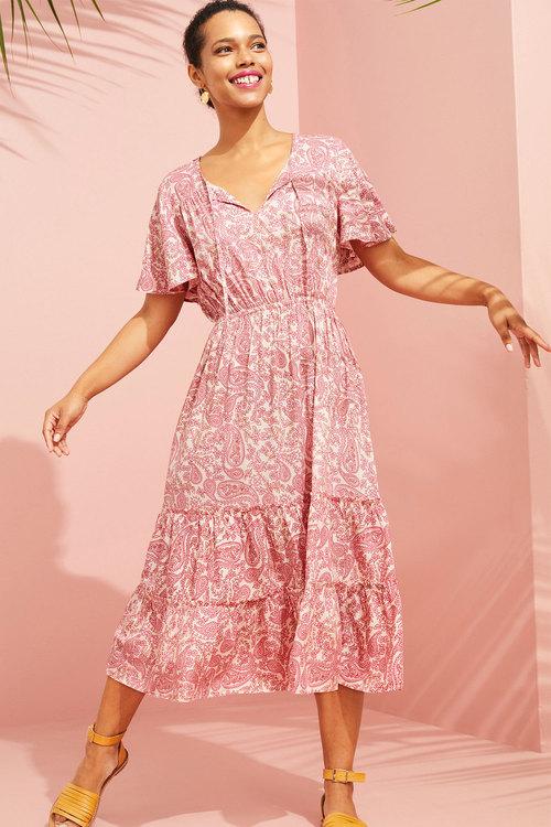 Emerge Flutter Sleeve Midi Dress