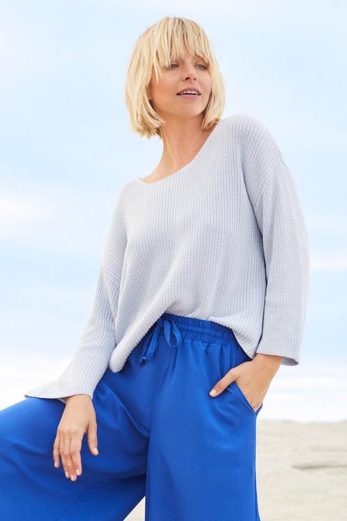 Emerge Ribbed Drop Shoulder Sweater