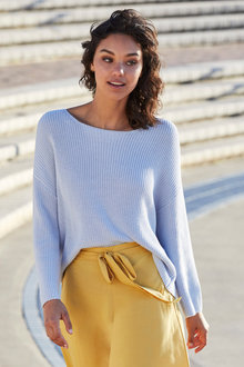 Emerge Ribbed Drop Shoulder Sweater - 249777