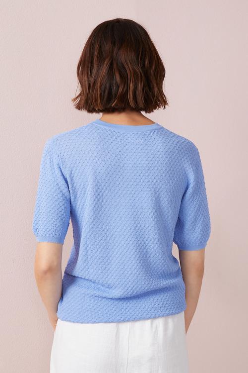 Emerge Textured Short Sleeve Sweater