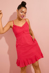 Emerge Broderie Ruffle Detail Dress
