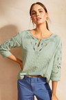 Emerge Broderie Dobby Top