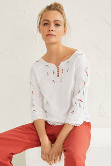 Emerge Broderie Dobby Top - 249805