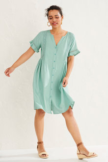 Emerge Lace Insert Shirt Dress - 249806