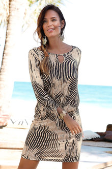 Urban Printed Beach Dress - 249808