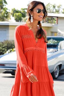 Urban Lace Detail Tunic Dress - 249815