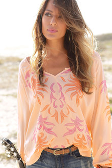 Urban Printed Beach Blouse - 249823