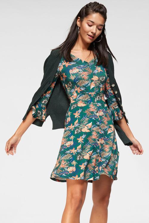 Urban Printed Button Dress