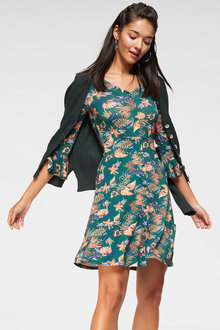 Urban Printed Button Dress - 249832