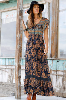 Urban Printed Maxi Dress - 249833