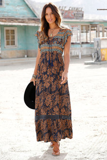 Urban Printed Maxi Dress - 249833