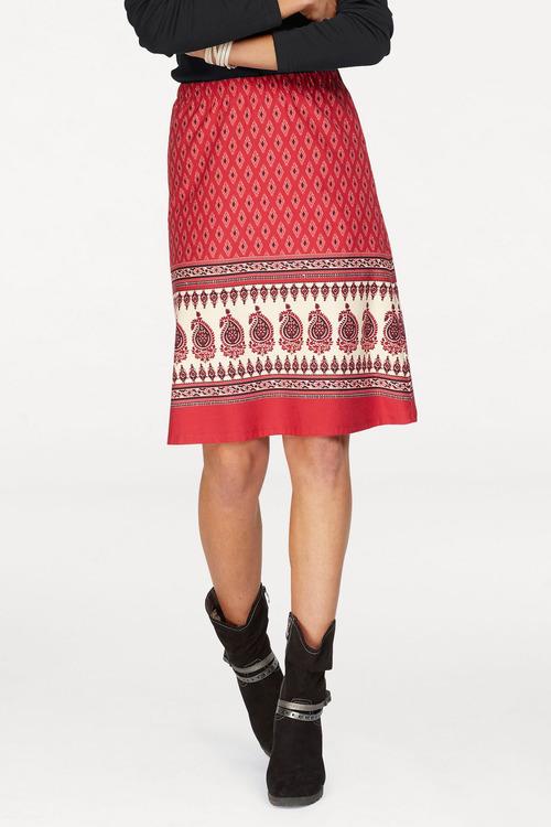 Urban Border Print Skirt