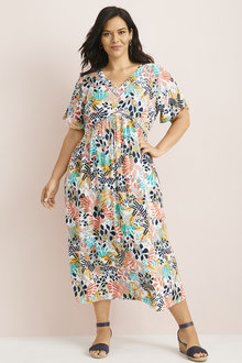 Plus Size - Sara Lace Insert Maxi - 249856