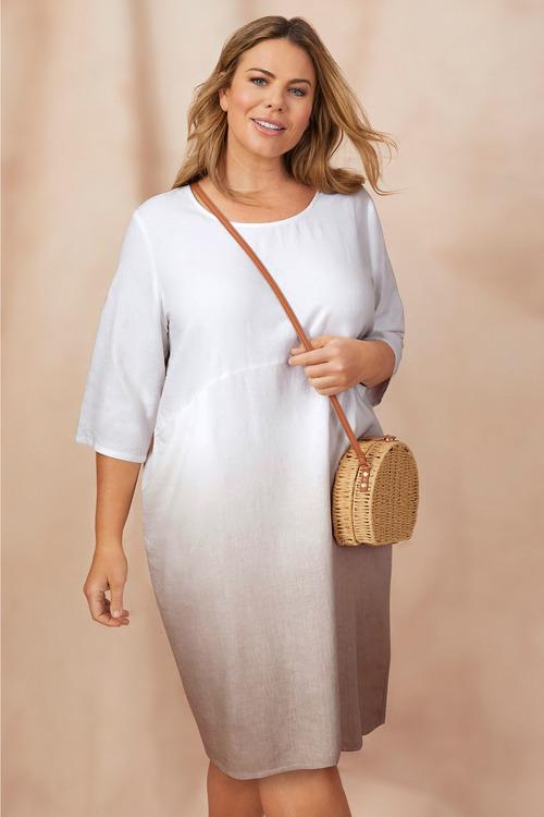 Sara Linen Ombre Dress